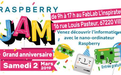 Le 2 mars «La Raspberry Jam des inspirés»